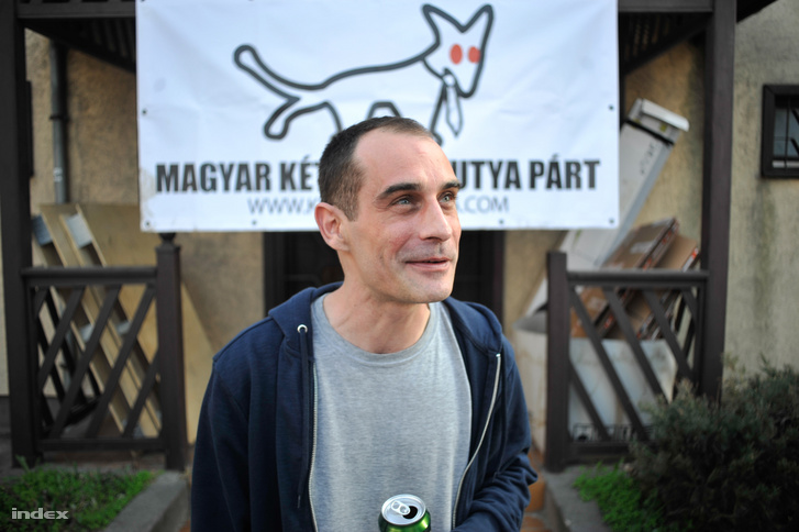 Kovács Gergely, a Magyar Kétfarkú Kutya Párt elnöke