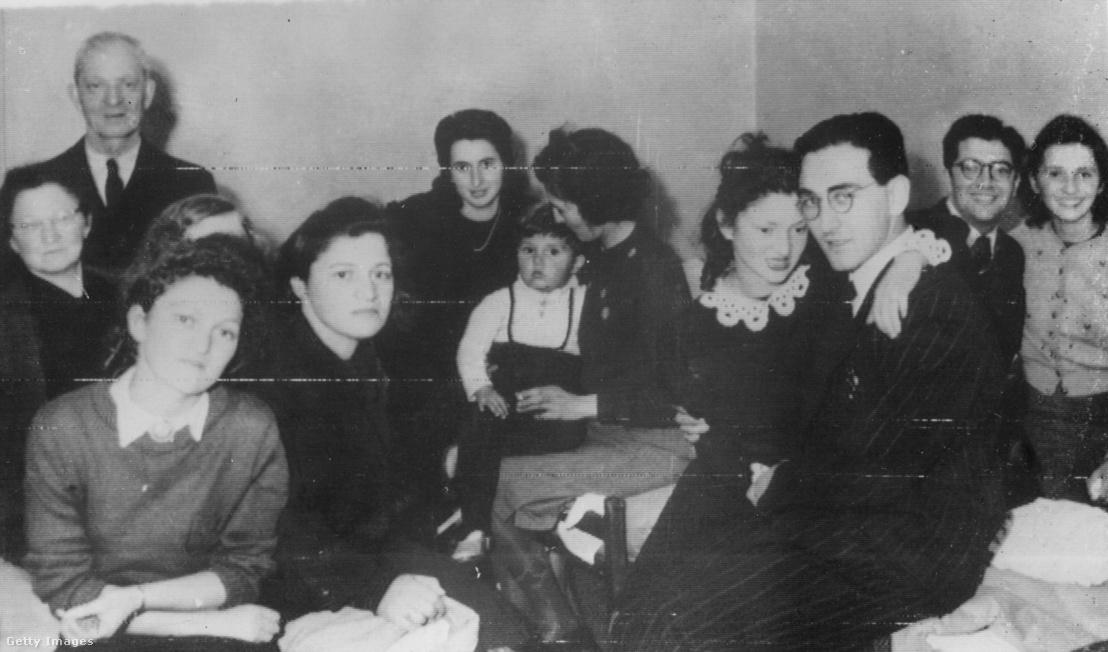 Zsidó menekültek Malmöben 1943. október 12-én