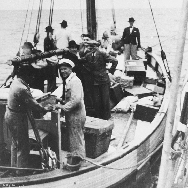 Zsidó menekültek egy dán halászhajón 1943-ban