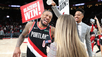 Megállíthatatlan volt a portlandi kosaras, 61 pontot dobott az NBA-ben