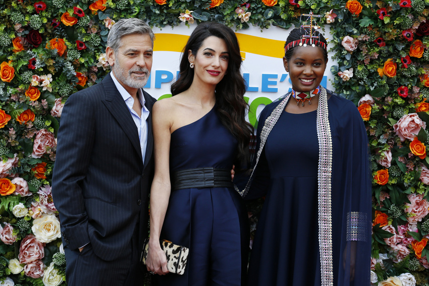 Nice Nailantei Leng'ete Amal és George Clooney-val.
