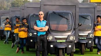 Elektromos riksákkal fog szállítani az Amazon Indiában