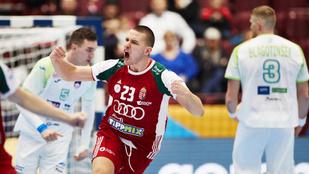 A szlovénok az olimpiai selejtező közelébe lökték a férfi kéziseinket