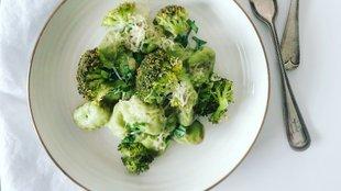 Brokkolikrémes gnocchi