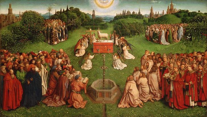 A bárány imádása, táblakép a genti oltárról