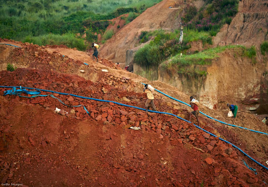 Angolai gyémántbányászok
