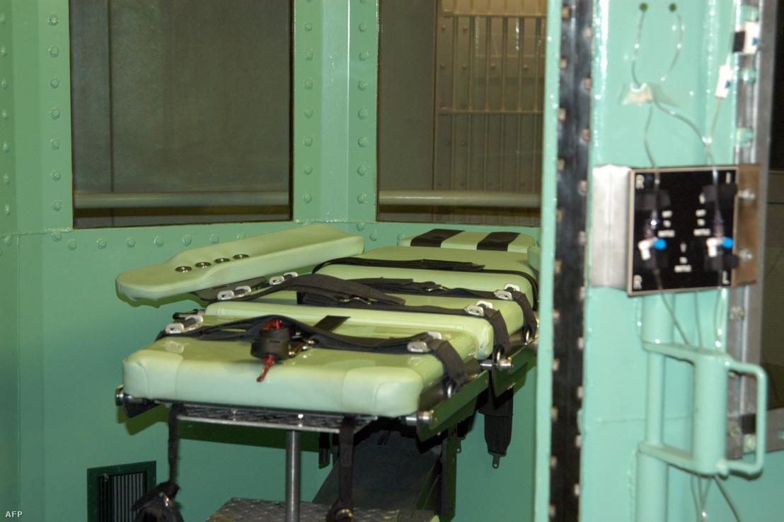 A Kalifornia állambeli San Quentin állami börtön kivégzőkamrája 2005-ben