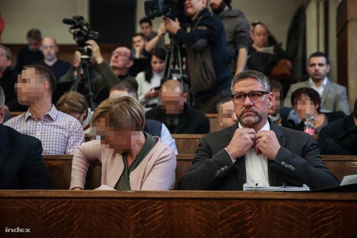 Simonka György a Fővárosi Törvényszéken 2020. január 14-én