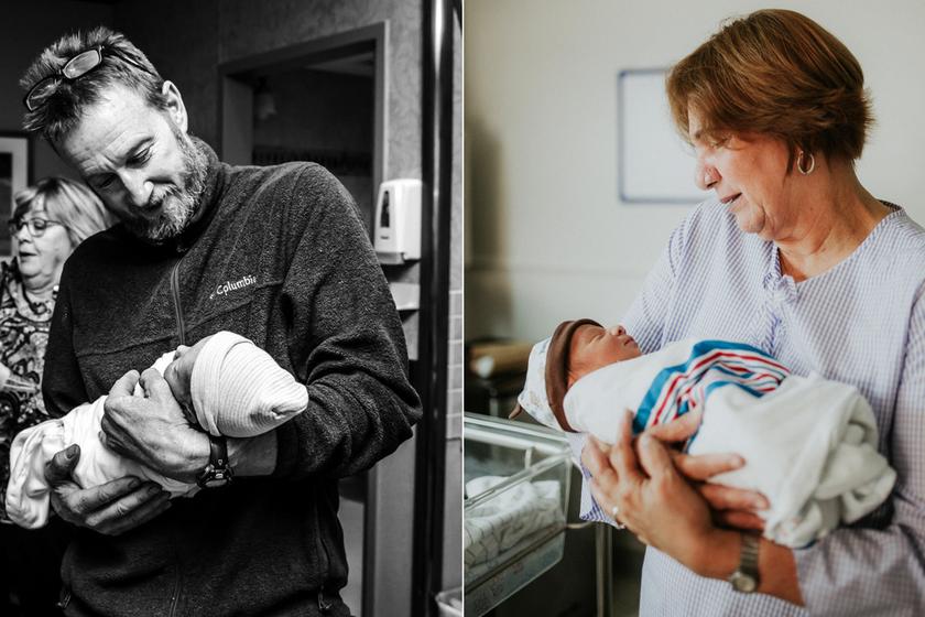 Ilyen gyönyörű, amikor egy nagyszülő először látja újszülött unokáját: megható képeket mutatunk