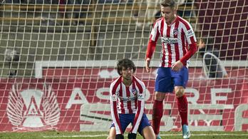 Harmadosztályú csapat ellen égett az Atlético Madrid a spanyol kupában