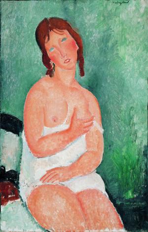 Modigliani Fiatal no ingben 1918