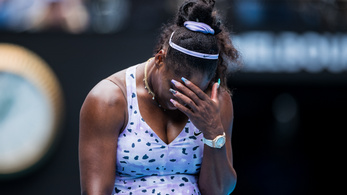 Nem játszott profin, kiesett Serena Williams az AusOpenen