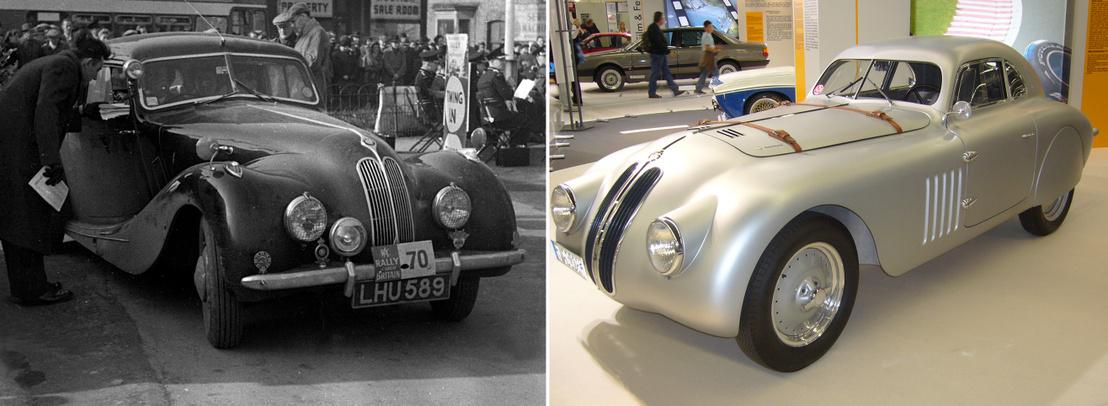 Balra a lopott tervek alapján készült Bristol 400, jobbra az eredeti BMW 328. Nem nagyítóval kell keresni a hasonlóságot