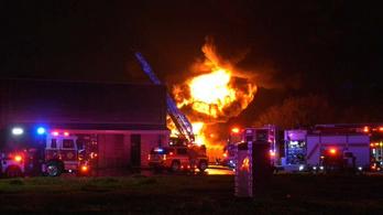Hatalmas robbanás rázta meg Észak-Houstont