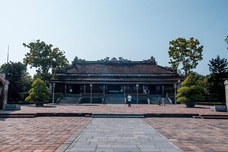 Az Nguyen dinasztinai birodalmi palotája Hue városában, Vietnamban