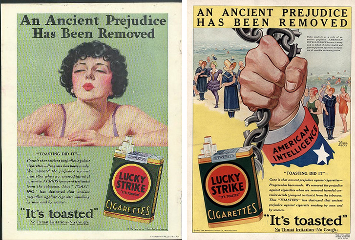 A kampány két hirdetése