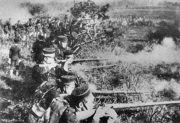 Japán katonák a kínai-japán háborúban
