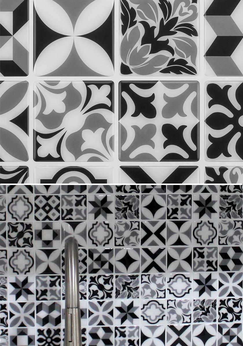 Ízléses, stílusos, mutatós: a foliasjuci.hu oldalon Maroccan Mono néven találod ezt a csodás öntapadós csempét.
