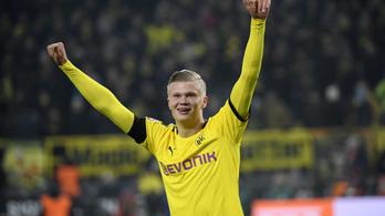 2 meccs, 5 gól, 12 percenként lövi a gólokat Haaland a Dortmundban