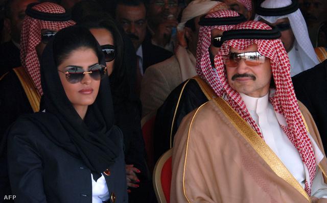 A szaúdi herceg, Al-Valid bin Talal és felesége, Amira hercegnő