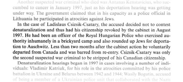 Megfosztották kanadai állampolgárságától