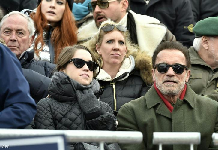 Arnold Schwarzenegger lányával, Christinával