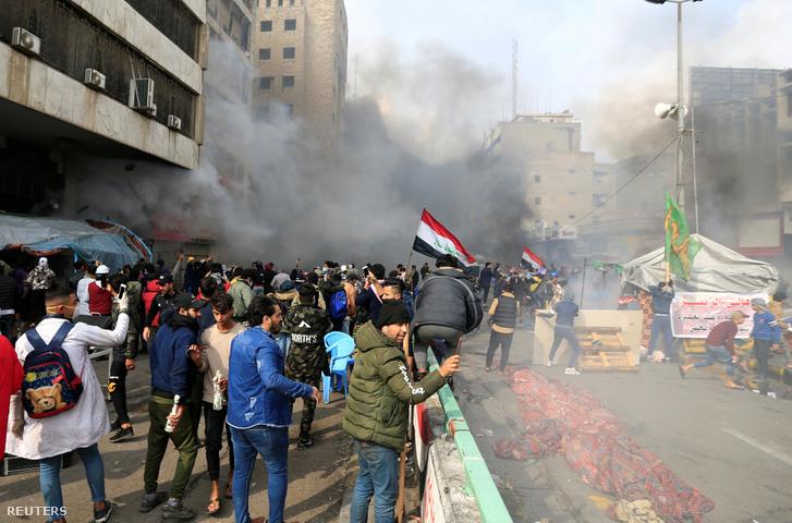 Tüntetés Irakban 2020. január 25-én.