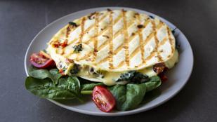 Még egy egészséges és gyors mexikói: spenótos quesadilla cheddarral