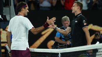 Fucsovics hozta az első szettet, de Federer magabiztosan győzött