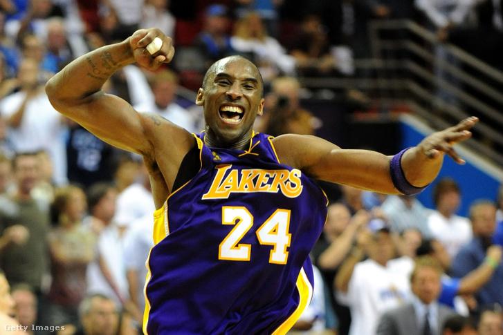 Kobe Bryant egy győztes meccs után 2009-ben.