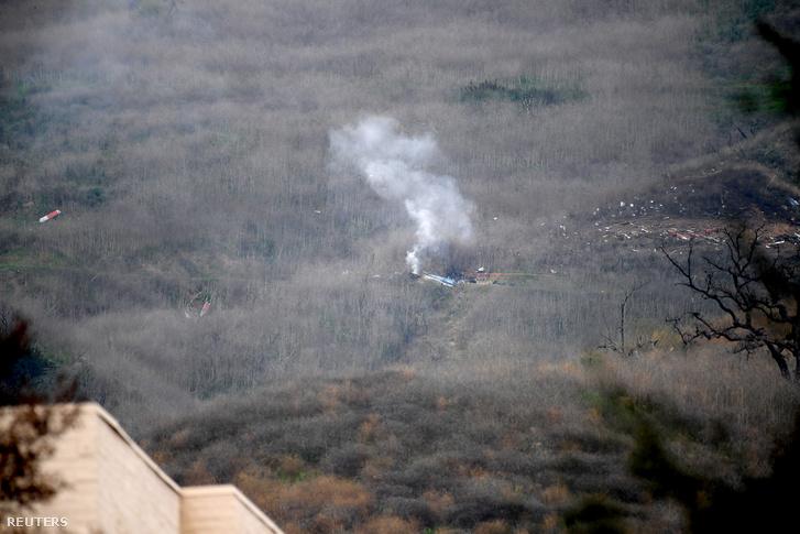 A lezuhant helikopter roncsa