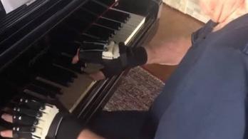 Bionikus kesztyűvel játszhat újra a 79 éves zongorista
