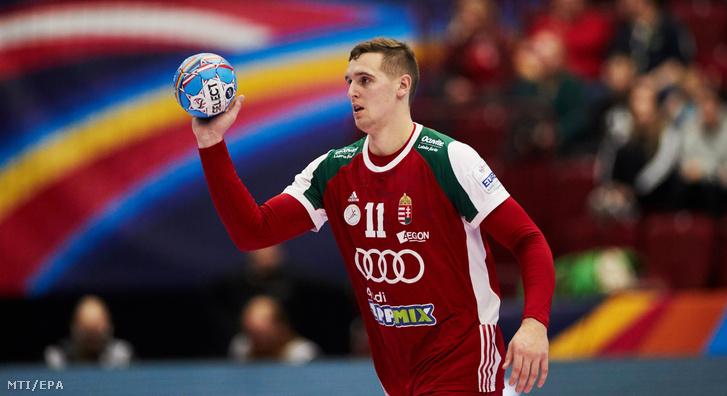 Ligetvári Patrik az olimpiai kvalifikációs férfi kézilabda Európa-bajnokság középdöntőjének második fordulójában játszott Magyarország - Szlovénia mérkőzésen a svédországi Malmőben 2020. január 19-én