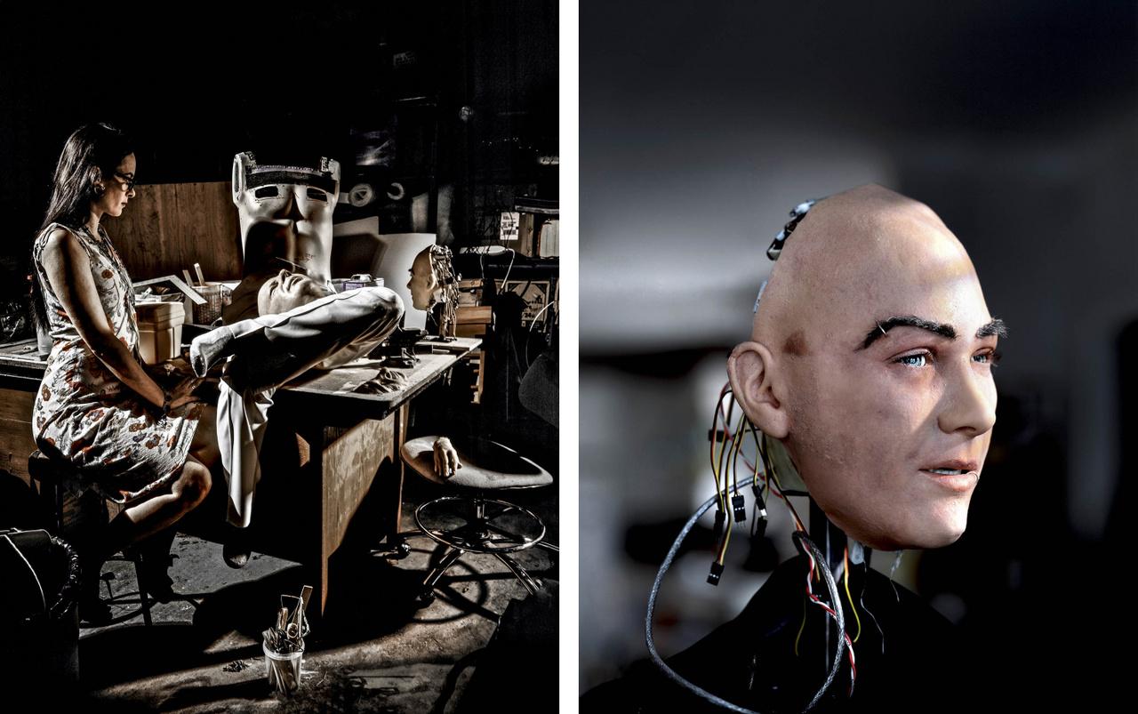 A robotok képesek olyan arckifejezésekre mint a homlokráncolás, a kacsintás vagy a vigyorgás.