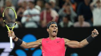 Rafael Nadal az ausztrálok kedvencét legyőzve negyeddöntős az AusOpenen