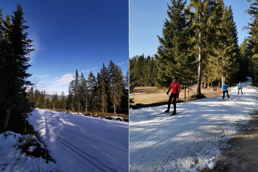 A síszezon alatt mindig gondoskodnak arról, hogy a sí- és sífutó pályákat hó fedje.