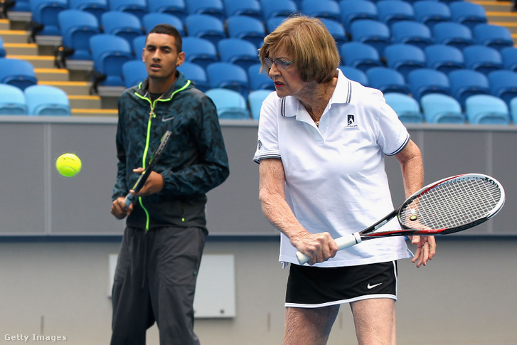 Margaret Court 2014-ben az Australian Openen