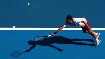 Federer 7 meccslabdáról fordítva jutott a 4 közé