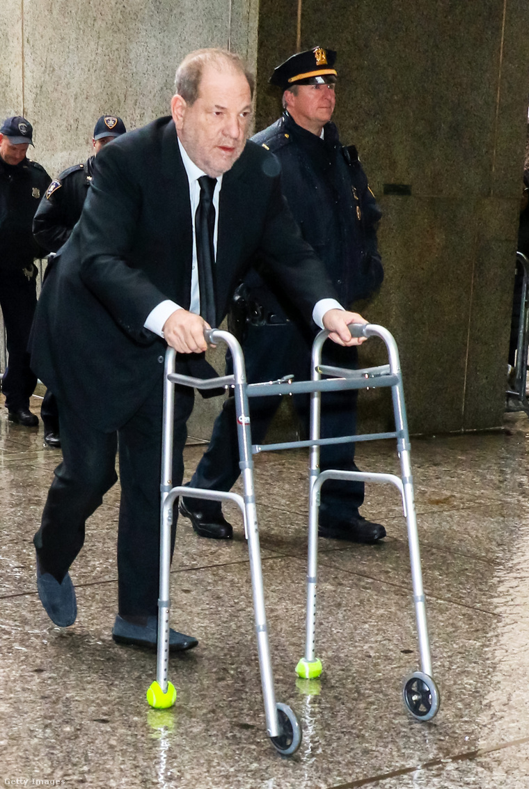 Harvey Weinstein január 16-ai tárgyalásán, New Yorkban