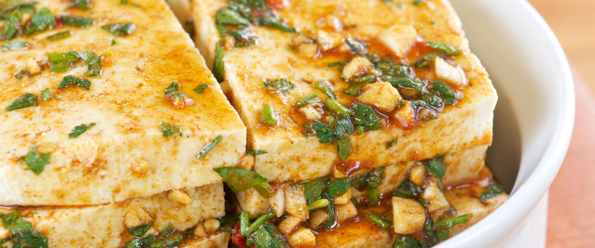 marinált tofu