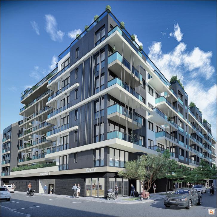 a Gát és a Márton utca sarkán épülő impozáns megjelenésű formabontó épület még egy kis üzlethelyiségnek is otthon ad majd.
