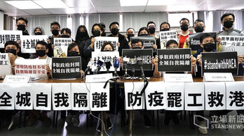 Sztrájkolnak a hongkongi orvosok, ha nem lesz határzár Kína felől
