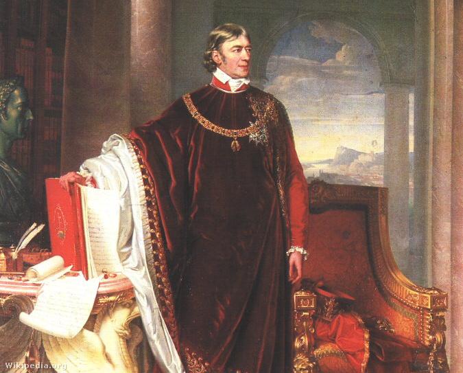 Gróf Széchényi Ferenc Johann Ender festményén 1823-ból