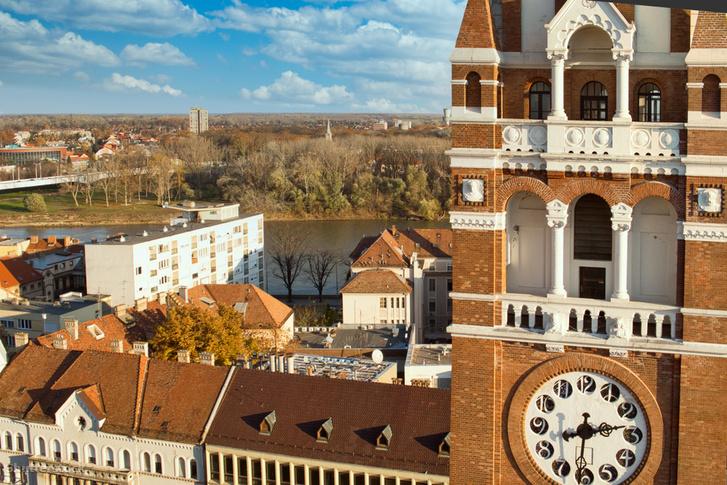 Szegedi panoráma a Dómmal és a Tiszával
