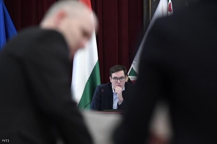 Karácsony Gergely fõpolgármester a Fõvárosi Közgyûlés ülésén 2020. január 29-én