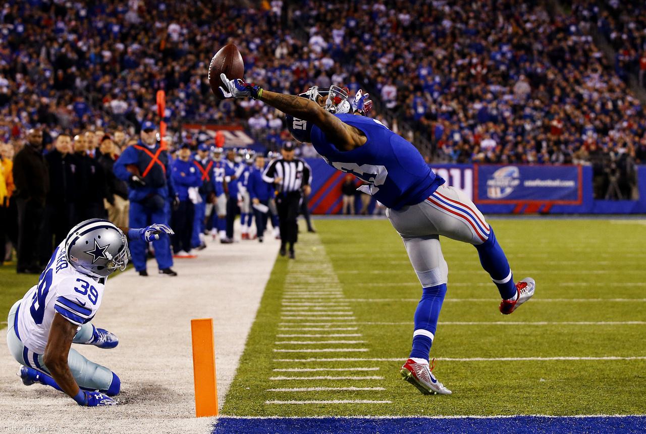 Odell Beckham Jr. teret hajlító és észbontó elkapása a New York Giants és a Dallas Cowboys 2014. november 23-i mérkőzésén. A hanyatt esés közben, fél kézzel megcsinált elkapás mozdulata, illetve az azt elkapó kép is az elmúlt évtized egyik ikonikus pillanata, kevés állókép tudja jobban visszaadni, hogy az emberi teljesítőképesség milyen határait feszegetik, vagy törtek már át az NFL-játékosok.