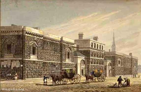 A Newgate börtön az 1800-as években