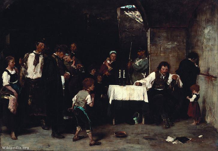 Munkácsy Mihály: Siralomház (1870)