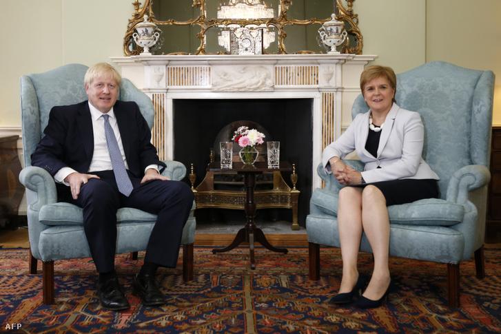Boris Johnson és Nicola Sturgeon találkozója Skóciában, Edinburghban 2019. július 29-én