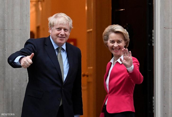 Boris Johnson és Ursula von der Leyen, az Európai Bizottság elnöke a londoni találkozójukon 2020. január 8-án